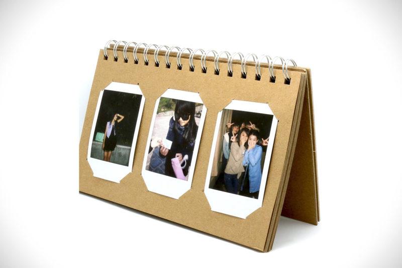 CAIUL Basic Instax Mini Picture Album Brown Paper Card Film