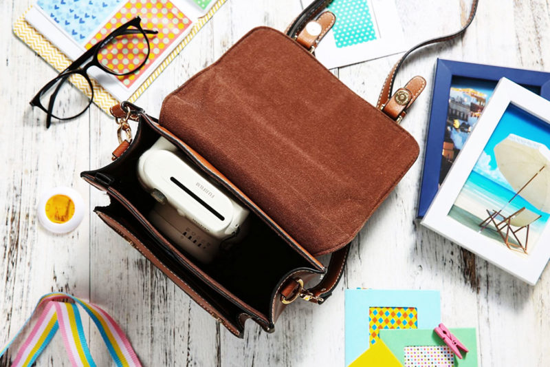 Lalonovo Retro Vintage Bag Fujifilm Instax Mini Pocket Storage